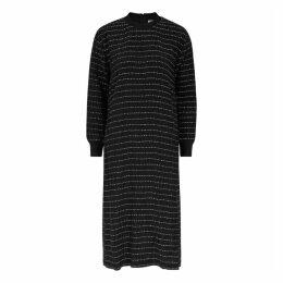 Bodice Kantha Black Embroidered Silk Dress