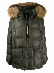 As65 fur trimmed puffer coat - Green