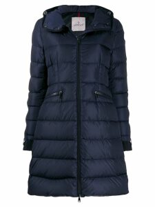 Moncler hooded padded coat - Blue