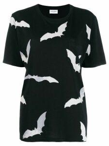 Saint Laurent bat print T-shirt - Black