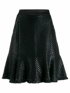 Karl Lagerfeld Karl's Treasure boucle skirt - Black