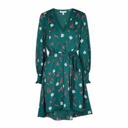Joie Marlayne Turquoise Floral-print Dress