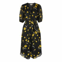 Joie Ervina Floral-print Silk Midi Dress