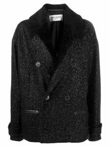 Saint Laurent double-breasted bouclé jacket - Black