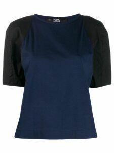 Karl Lagerfeld contrast sleeve T-shirt - Blue