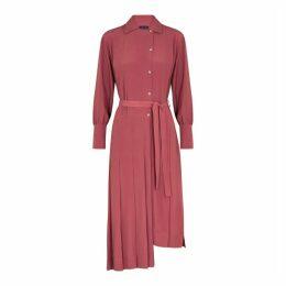 Eudon Choi Morin Red Pleated Midi Dress