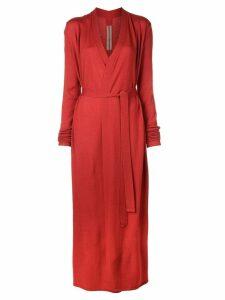 Rick Owens longline cardi-coat - Red