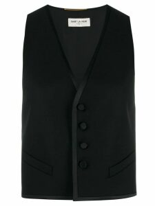 Saint Laurent cropped gilet - Black