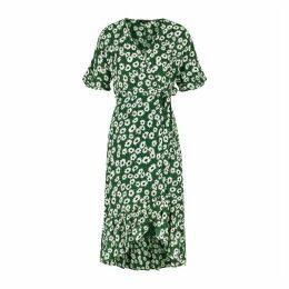 Rails Florence Green Floral-print Wrap Dress