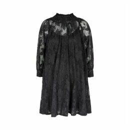 ByTiMo Black Lace Cotton-blend Mini-dress