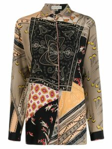 Etro mixed print shirt - Neutrals