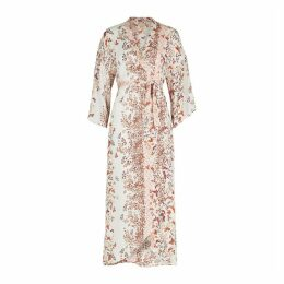 ByTiMo White Floral-print Midi Dress
