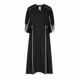 Bodice Black Cotton Dress