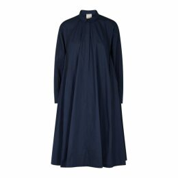 Bodice Navy A-line Cotton Dress
