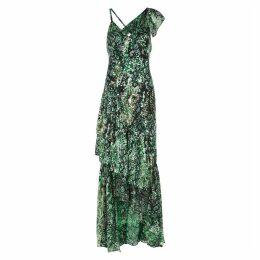 Alice + Olivia Shanel Snake-print Devoré Maxi Dress