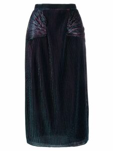 Marco De Vincenzo metallic sheen pleated skirt - Blue