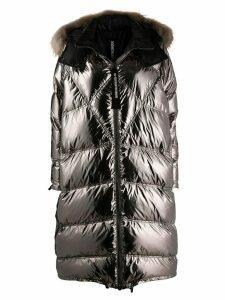 As65 long puffer coat - Silver