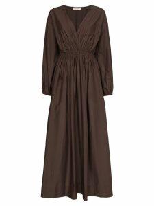 Matteau wrap-front maxi dress - Brown