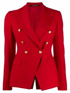 Tagliatore double breasted blazer - Red