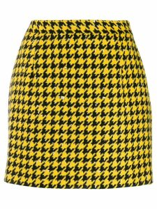 Alessandra Rich houndstooth print skirt - Yellow