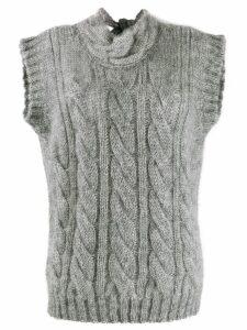 Prada open back knit top - Grey