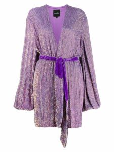 Retrofete wrap V-neck dress - Purple