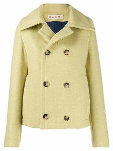 Marni Oversized wool collar jacket - Yellow