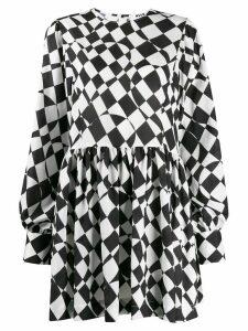 MSGM geometric print short dress - White
