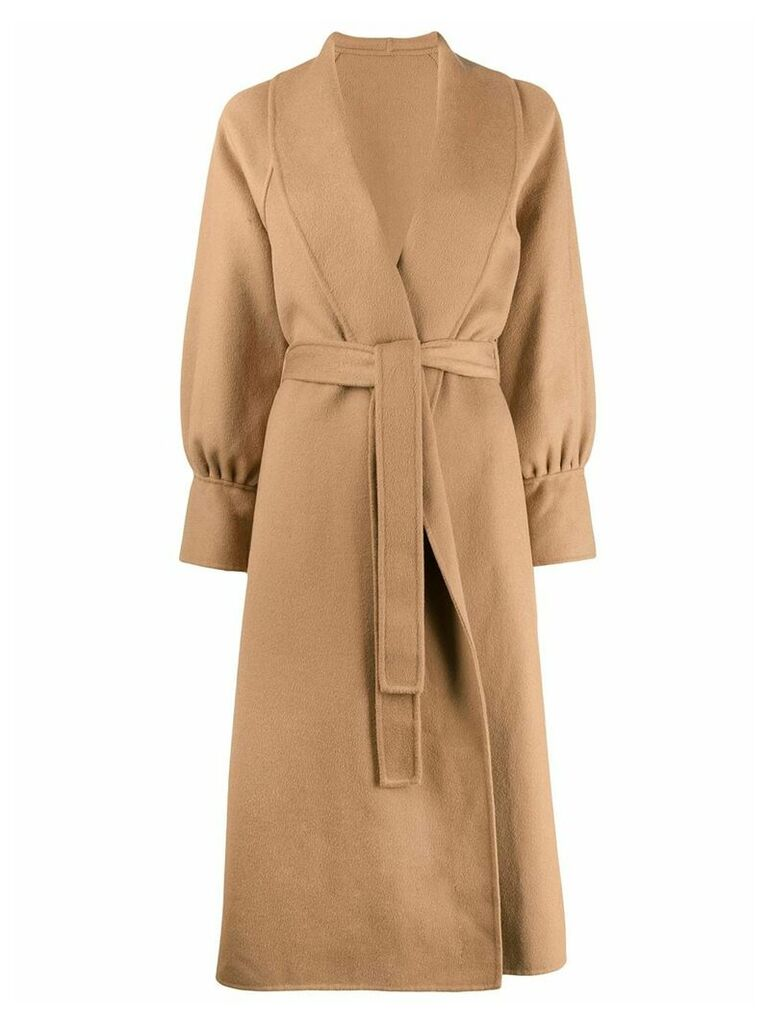 L'Autre Chose belted midi coat - Brown