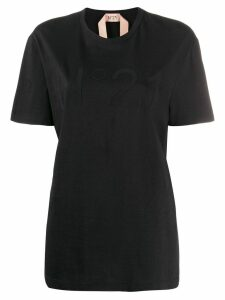 Nº21 logo patch T-shirt - Black