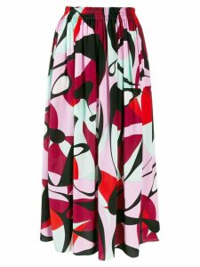 Emilio Pucci high-waist printed skirt - Black