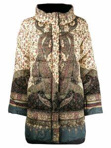 Etro paisley print padded coat - Neutrals
