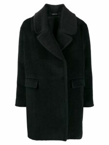 Tagliatore off-centre coat - Black