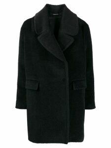 Tagliatore off-centre coat - Black
