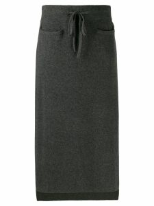 Max & Moi high-waisted knit skirt - Grey