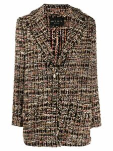 Etro tweed balzer coat - Black