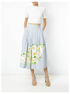 Isolda daisy print embroidered skirt - Blue