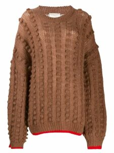 Marco De Vincenzo contract trim chunky jumper - Brown