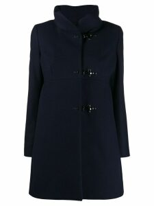 Fay hook fastening coat - Blue