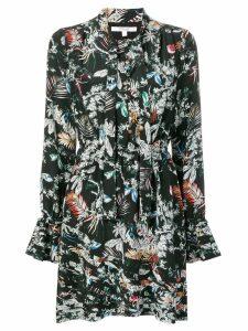 Derek Lam 10 Crosby wallpaper floral print dress - Black