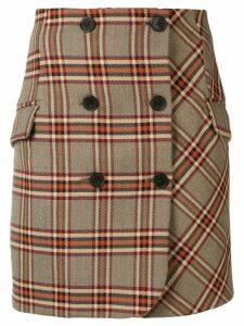 Derek Lam 10 Crosby plaid mini skirt - Brown