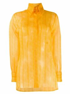 Fendi feather pattern shirt - Yellow