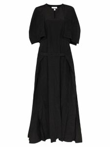 Jil Sander flutter maxi dress - Black