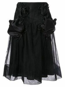 Simone Rocha ruffle patch skirt - Black