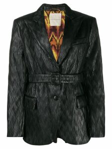 Marco De Vincenzo belted pleated blazer - Black