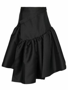 Shushu/Tong high-waisted asymmetric midi-skirt - Black