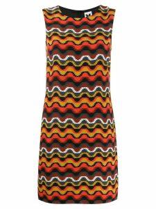 M Missoni geometric silk dress - Orange