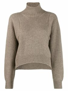 Erika Cavallini turtleneck jumper - Neutrals