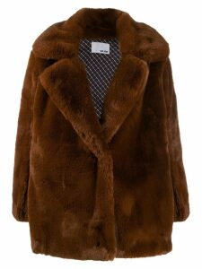 Each X Other vegan mink coat - Brown