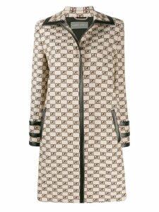 Alberta Ferretti logo trench coat - Neutrals